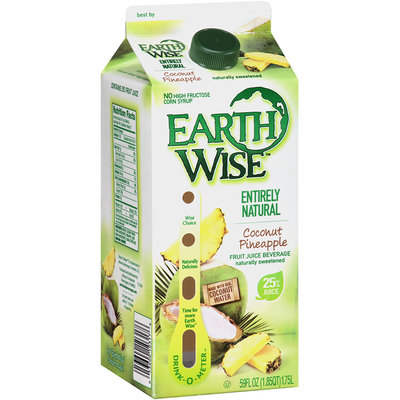 Earth Wise™ Entirely Natural Coconut Pineapple Fruit Juice Beverage 59 fl oz. Carton