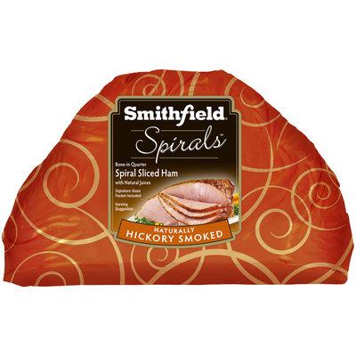 Smithfield® Spirals™ Natural Hickory Smoked Spiral Sliced Bone-In Quarter Ham