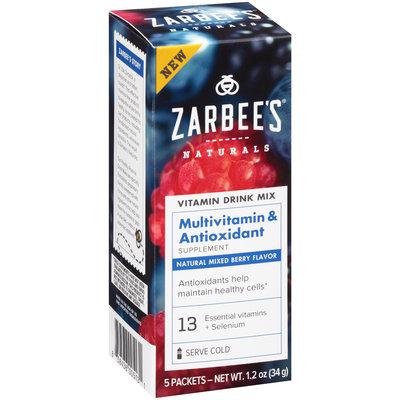 Zarbee's® Naturals Multivitamin & Antioxidant Vitamin Drink Mix Supplement Packets 5 ct Box