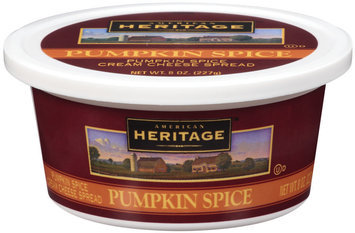 American Heritage™ Pumpkin Spice Cream Cheese Spread 8 oz Plastic Container