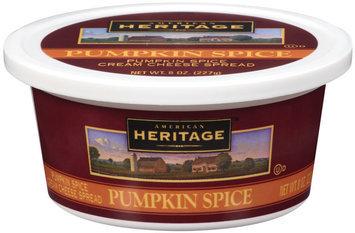 American Heritage™ Pumpkin Spice Cream Cheese Spread 8 oz Plastic Container