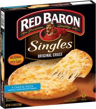 Red Baron® Singles Original Crust Pizza 4 Cheese 11.58 oz Box