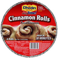 Rhodes® Anytime!™ Cinnamon Rolls with Cream Cheese Frosting 6 ct Tray