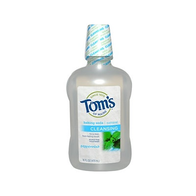 Tom's OF MAINE Alcohol-Free Baking Soda Mouthwash Cleansing Peppermint