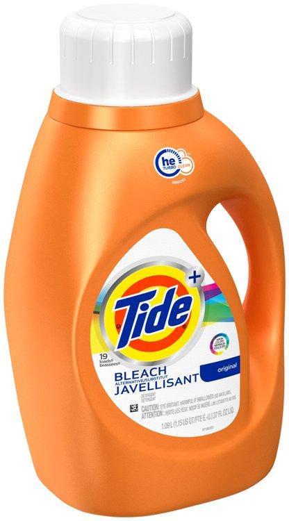 Tide HE Turbo Clean Plus Bleach Alternative Liquid Laundry Detergent 1.09L 19 loads