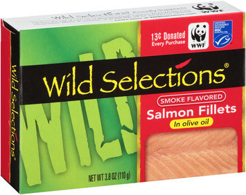 Wild Selections® Smoke Flavored Salmon Fillets in Olive Oil 3.8 oz. Box