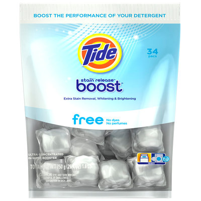 Tide Stain Release Duo Pacs In-Wash Booster 34 ct Package