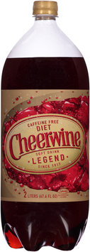 Cheerwine® Caffeine Free Diet Cherry Soft Drink Legend 67.6 fl. oz. Bottle