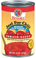 Brooks Just For Chili Medium W/Onions Tomato Sauce 15 Oz Can