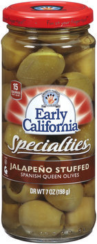 EARLY CALIFORNIA Queen Jalapeno Stuffed Spanish Specialties 7 OZ JAR