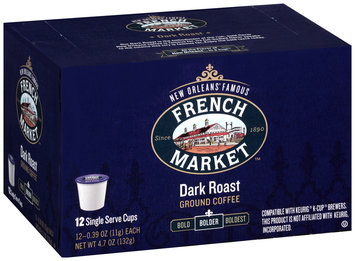 French Market™ Bolder Dark Roast Ground Coffee Single Serve Cups 12 ct Box