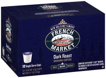 French Market™ Bolder Dark Roast Ground Coffee Single Serve Cups 12 ct Box