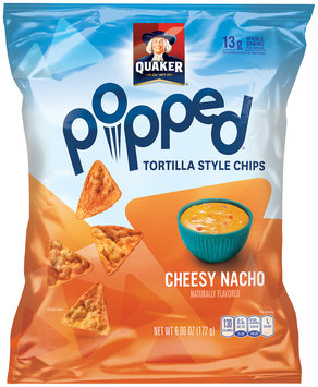 Quaker® Popped Cheesy Nacho Tortilla Style Chips