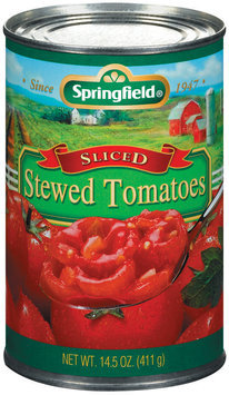 Springfield Sliced Stewed Tomatoes 14.5 Oz Can