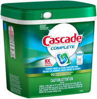 Cascade Complete ActionPacs Dishwasher Detergent Fresh Scent 90 Ct