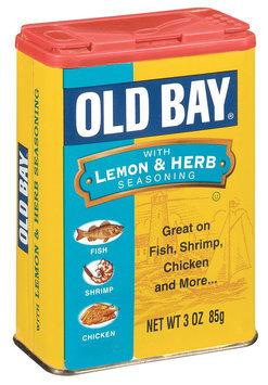 Old Bay W/Lemon & Herb Seasoning 3 Oz Shaker