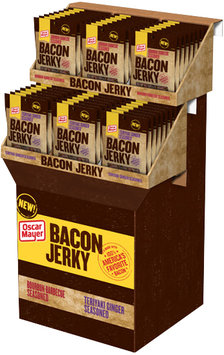 Oscar Mayer Bourbon Barbecue Seasoned/Teriyaki Ginger Seasoned Bacon Jerky Display