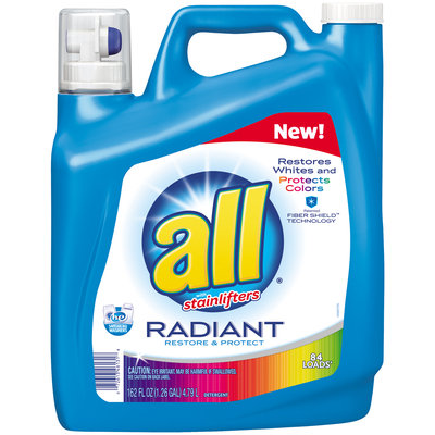 all® Radiant Laundry Detergent 84 Loads 162 fl. oz. Bottle