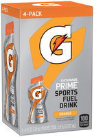 Gatorade® Prime Orange Sports Fuel Drink 4-4 fl. oz. Pouches