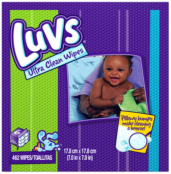 Luvs Ultra Clean Baby Wipes 462 ct Box