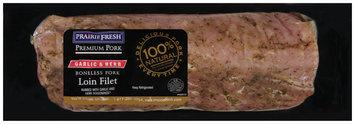 PrairieFresh® Natural Boneless Pork Loin Filet Rubbed with Garlic & Herb Seasonings 2 ct