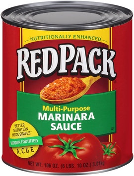 Redpack® Multi-Purpose Marinara Sauce 106 oz.