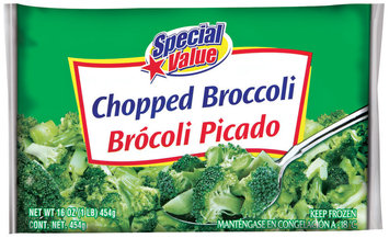 Special Value Chopped Broccoli  16 Oz Bag