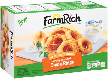 FarmRich® Sea Salt & Cracked Pepper Crispy Breaded Onion Rings 24 oz. Box