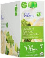 Plum Organics® Stage 2 Zucchini Banana & Amaranth Organic Baby Food 6-3.5 oz. Pouches