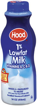 Hood 1% Lowfat Milk 14 Oz Plastic Bottle