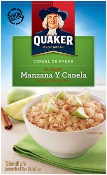 Quaker™ International Apples & Cinnamon Instant Oatmeal 15.1 oz. Box