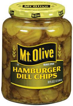 Mt. Olive Hamburger Dill Chips Pickles 32 Oz Jar