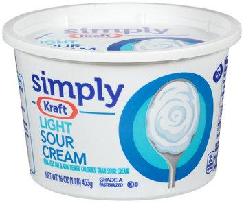 Simply Kraft Light Sour Cream 16 oz. Tub