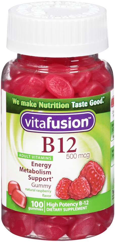 vitafusion™ B12 500 mcg Gummy Dietary Supplement for Adults 100 ct Bottle