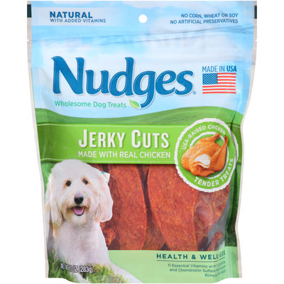 Nudges® Health & Wellness Chicken Jerky Cuts Wholesome Dog Treats 10 oz. Bag