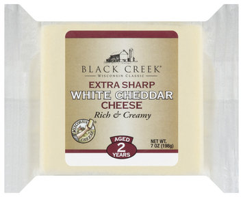 Black Creek Extra Sharp White Cheddar Cheese 7 Oz Wrapper