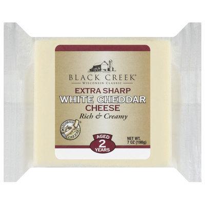 Black Creek Extra Sharp White Cheddar Cheese 7 Oz Wrapper