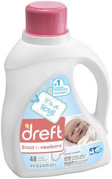 Dreft Stage 1: Newborn Liquid Detergent (HEC) 75oz, 48 loads