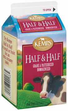 Kemps Grade A Pasteurized Half & Half 1 Pt Carton