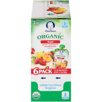 Gerber® Organic 2nd Foods® Fruit Pears, Peaches & Strawberries Baby Food 6-3.5 oz. Pouches