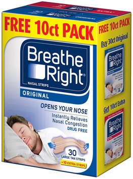 Breathe Right® Original Large Nasal Strips Tan Free 10 ct. Pack 40 ct. Box