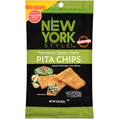New York Style® Parmesan Garlic + Herb Pita Chips 8 oz. Bag