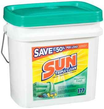 Sun® Mountain Fresh 177 Loads Laundry Detergent 22.7 lb. Pail