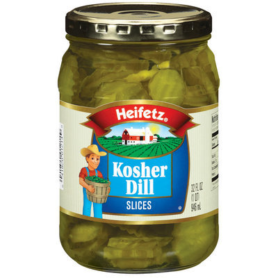 Heifetz Kosher Dill Slices Pickles