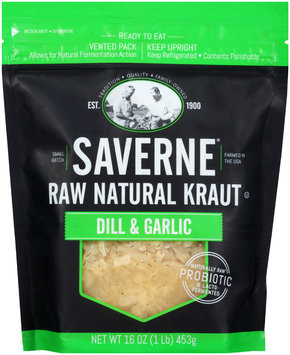 Saverne® Raw Natural Dill & Garlic Kraut 16 oz. Pouch