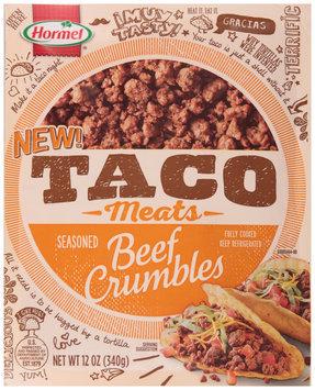 Hormel® Taco Meats Seasoned Beef Crumbles 12 oz. Pack