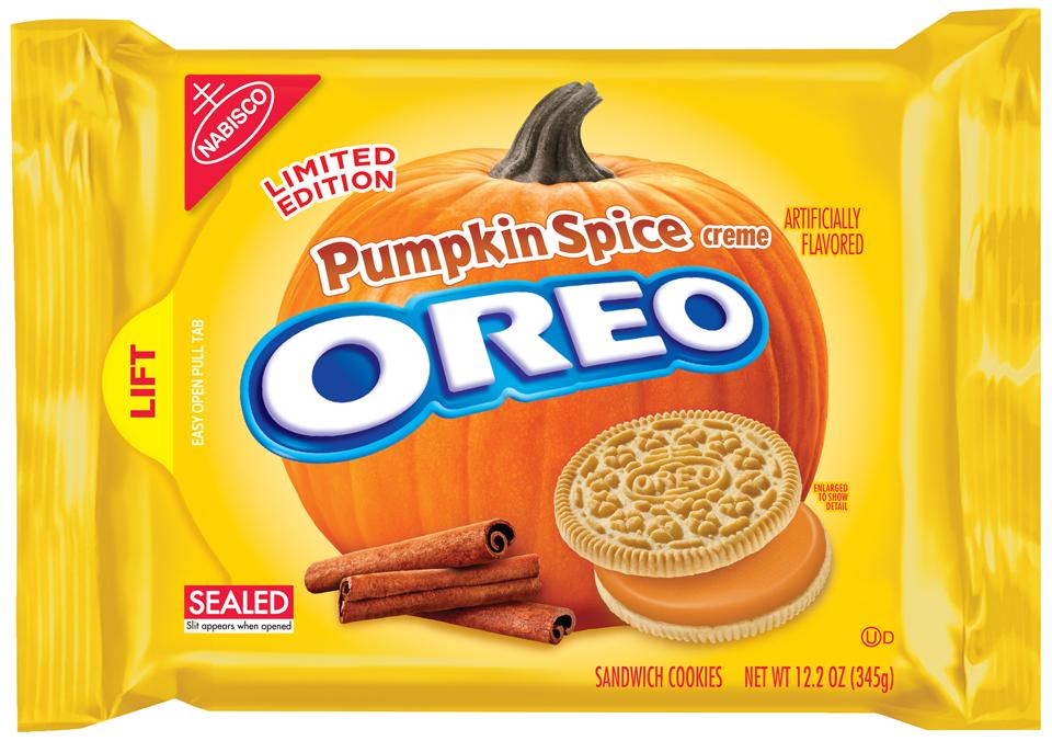 Nabisco Oreo Pumpkin Spice Creme Sandwich Cookies