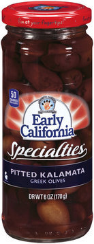 EARLY CALIFORNIA Pitted Kalamata Greek Specialties 6 OZ JAR