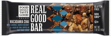 Food Should Taste Good Macadamia Chai Real Good Bar