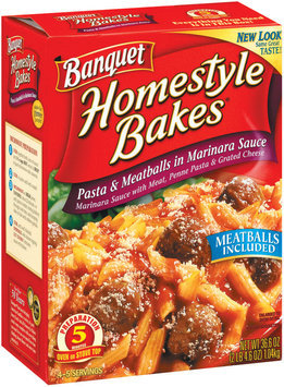 Banquet Homestyle Bakes  Pasta & Meatballs In Marinara Sauce 36.6 Oz Box